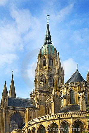 Cathedral of Notre Dame in Bayeux, France