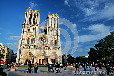 Cathedral Notre-Dame De Paris Editorial Image