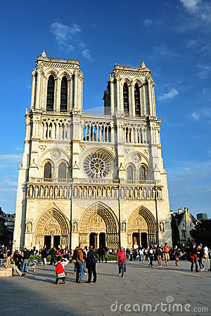 Cathedral Notre-Dame De Paris Editorial Stock Photo
