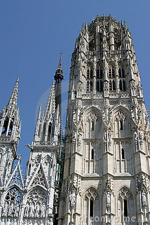 Free Cathedral Notre Dame De Rouen Royalty Free Stock Image - 1771606