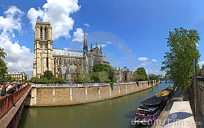 Cathedral Notre Dame in Paris, France. Editorial Image