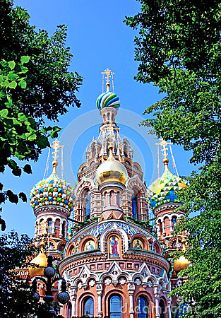 Free Cathedral Of The Resurrection On Spilled Blood  In St. Petersburg Royalty Free Stock Images - 69268049