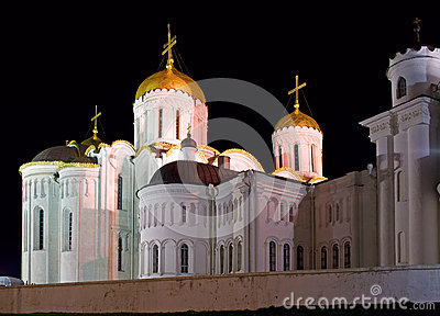 Cathedral orthodox night