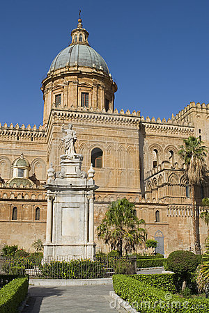 The cathedral in Palermo in Sicily