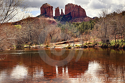 Cathedral Rock Canyon Oak Creek  Sedona Arizona