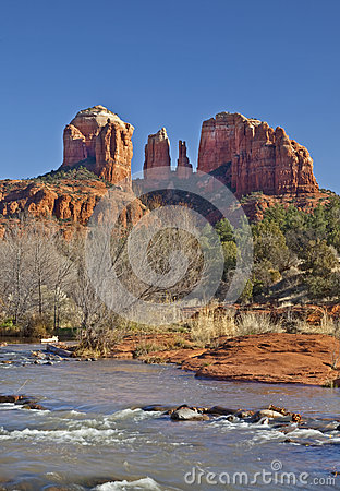 Free Cathedral Rock From Red Rock Crossing Stock Images - 43150884