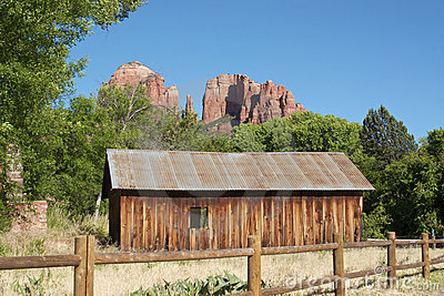 Cathedral Rock and Old Cabin