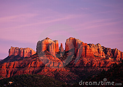 Cathedral Rock in Sedona, Arizona at sunset