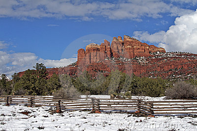 Cathedral Rock Snow