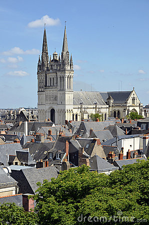 Cathedral Saint Maurice at Angers in France