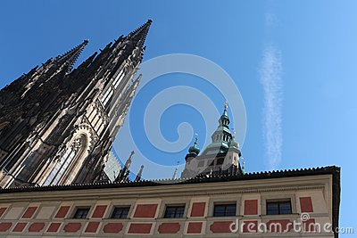 Cathedral of Saints Vitus, Prague Editorial Stock Photo