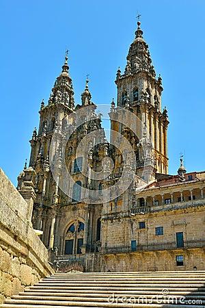 The cathedral of santiago de compostela. galicia s