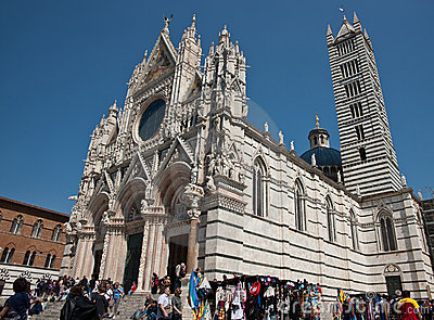 Cathedral of Siena, Italy. Editorial Stock Image