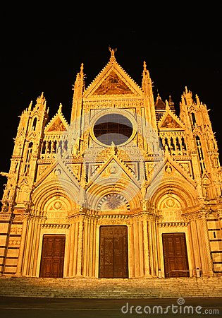 Cathedral in Siena (Italy) at night