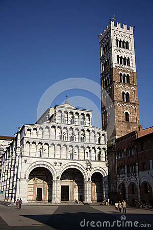 Cathedral of St Martin in Lucca (Tuscany, Italy) Editorial Image