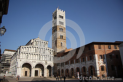 Cathedral of St Martin in Lucca (Tuscany, Italy) Editorial Photo