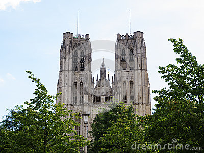Cathedral of St. Martin and St. Gudula in Brussels