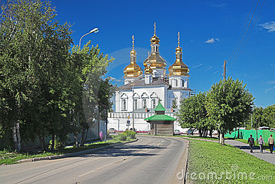 Cathedral Of The Tyumen Trinity Monastery Royalty Free Stock Images - Image: 12844169