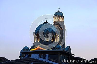 Cathedral in Veliko Tarnovo at Dusk