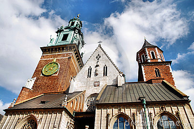 Cathedral at Wawel hill in Cracow