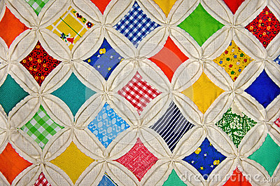 Cathedral Window quilt pattern