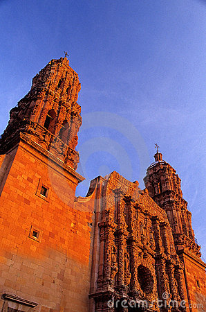 Cathedral- Zacatecas, Mexico Royalty Free Stock Photo - Image: 9599155