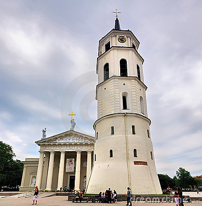 Catherdral of Vilnius, Lithuania Editorial Stock Image