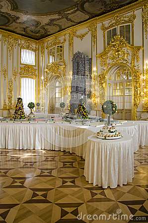 The Catherine Palace - Cavaliers Dining Hall - Courtiers-in-Attendance Dining Room