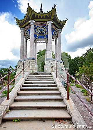 Free Catherine Park. Pushkin (Tsarskoye Selo). Petersburg. Pavilion In The Chinese Style. Stock Images - 41236534