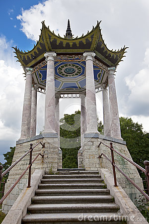 Free Catherine Park. Pushkin (Tsarskoye Selo). Petersburg. Pavilion In The Chinese Style. Royalty Free Stock Photos - 48993818