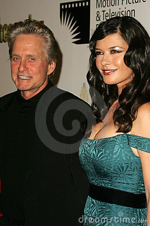 Catherine Zeta-Jones, Michael Douglas Editorial Image
