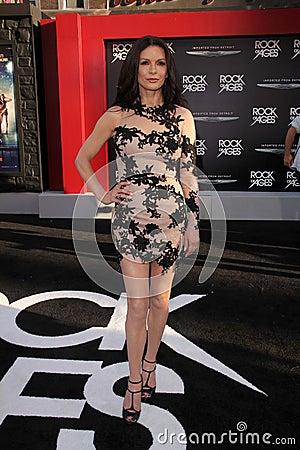 Catherine Zeta-Jones at the World Premiere of  Editorial Stock Photo
