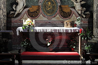 Catholic altar in a church