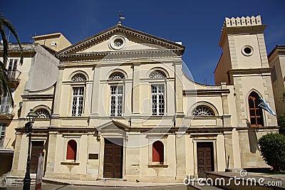 Catholic cathedral in Corfu Town (Greece)