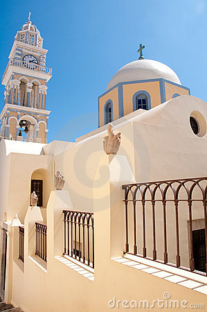 Catholic cathedral in Santorini