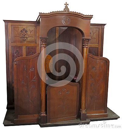 Catholic Christian Religion, Church Confessional, Isolated