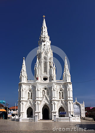 Free Catholic Church (Church Of Our Lady Ransom) In Kanyakumari,Tamil Nadu, Royalty Free Stock Image - 40768916
