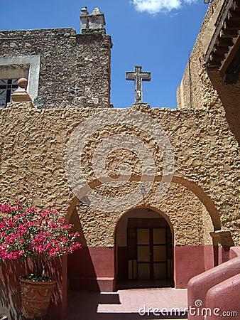 Catholic Church Courtyard