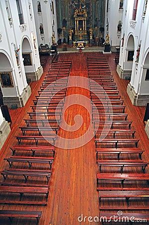 Catholic church interior Editorial Image