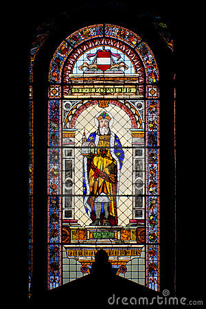 Catholic church stained glass window