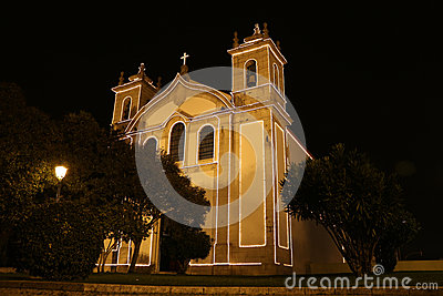 Catholic church by night