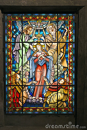 Free Catholic Stained Glass Window 2 Stock Images - 4071344