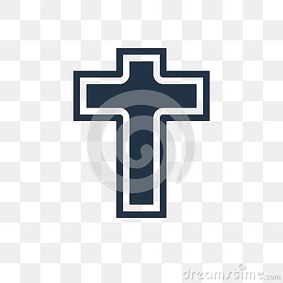 Catholicism vector icon isolated on transparent background, Catholicism transparency concept can be used web and mobile Vector Illustration