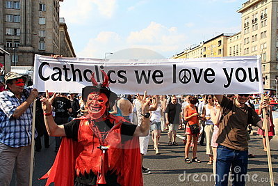 Catholics we love you Editorial Stock Photo