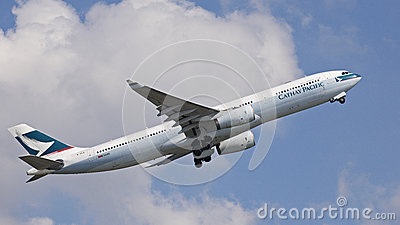 Cathy Pacific Passenger Aircraft Editorial Image
