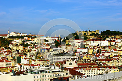 Catle Hill and Downtown, Lisbon, Portugal