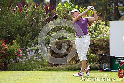 Catriona Matthew tees of at LPGA Malaysia Editorial Stock Image