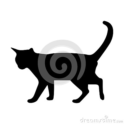 Cat silhouette Vector Illustration