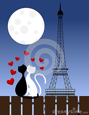 Free Cats And Eiffel Tower Royalty Free Stock Photos - 100014038