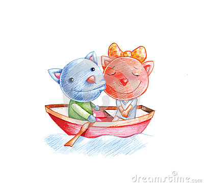 Cats on boat